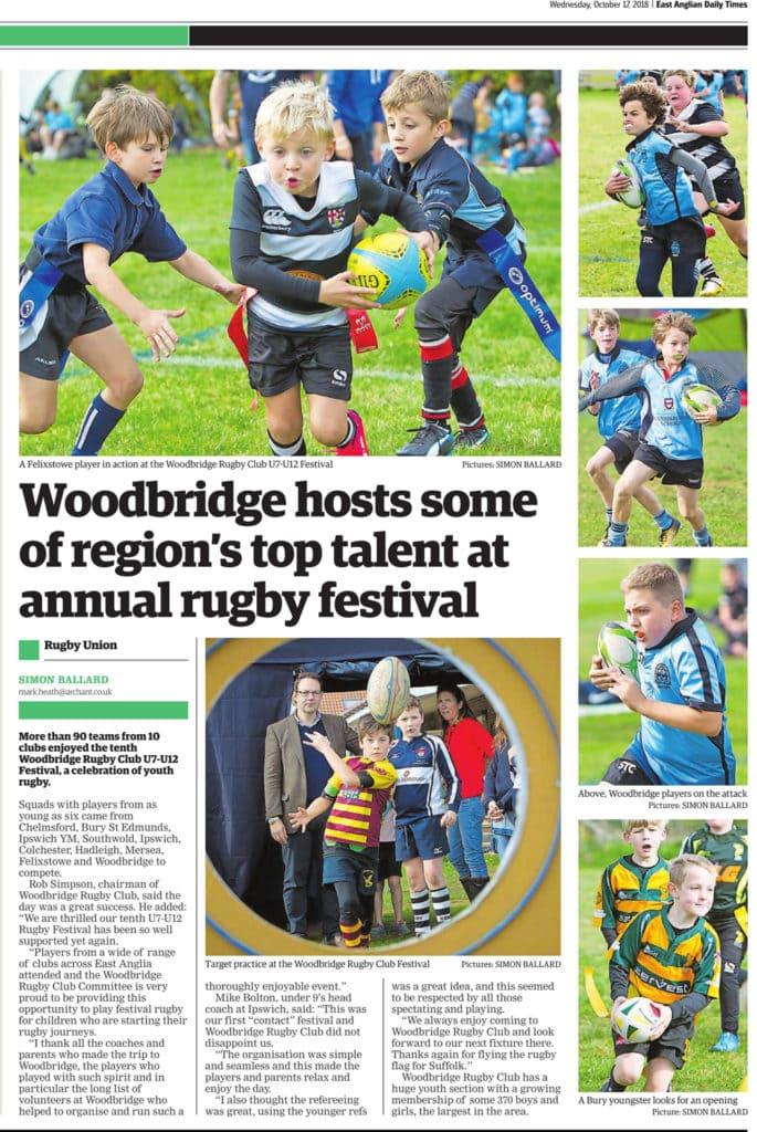 Woodbridge Rugby Club U7 U12 Youth Rugby