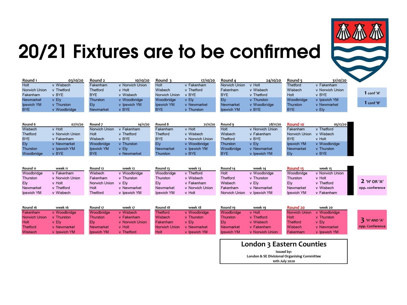 Warriors fixtures 20-21