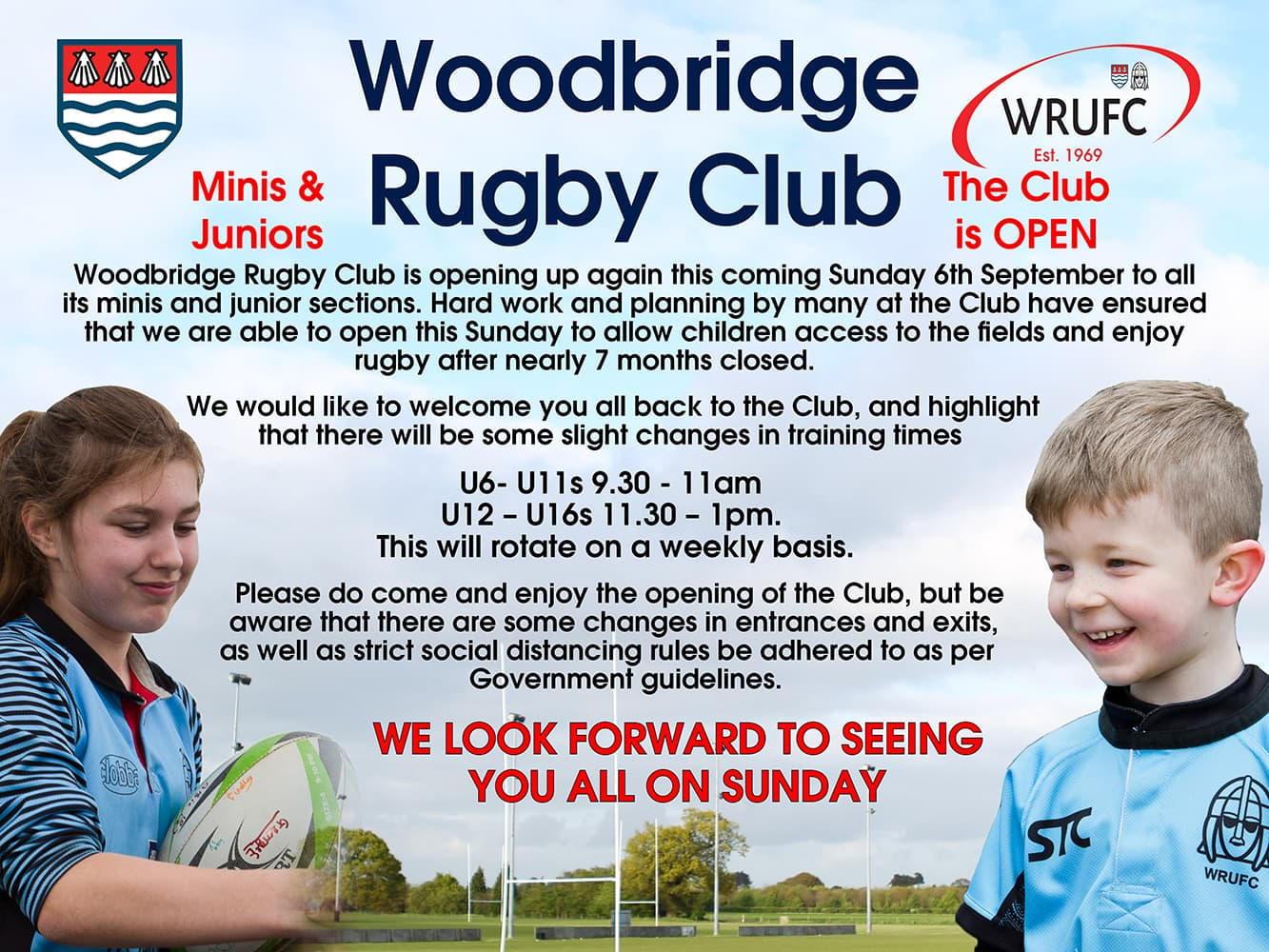 Juniors Return to Rugby