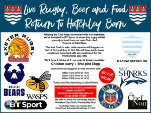 BT Sport Rugby Lunches Oct 2020