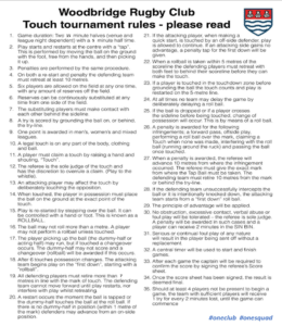 Touch Rugby Rules