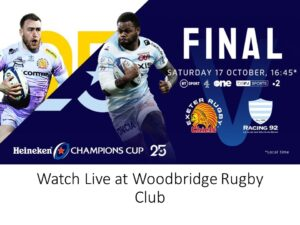 Live Rugby at Woodbridge Rugby Club