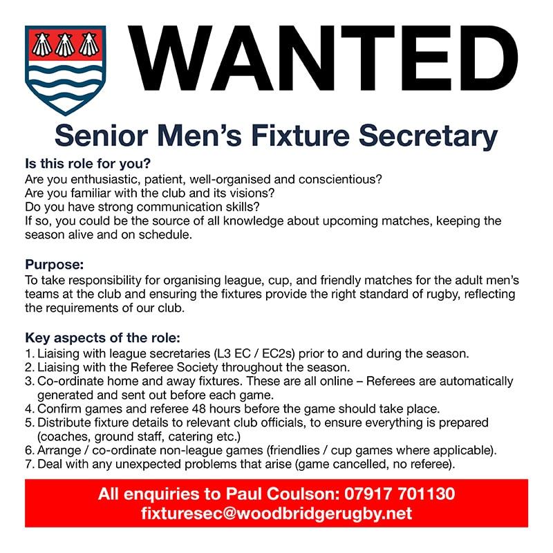 Senior Mens Fixture Secretary 30_8_21